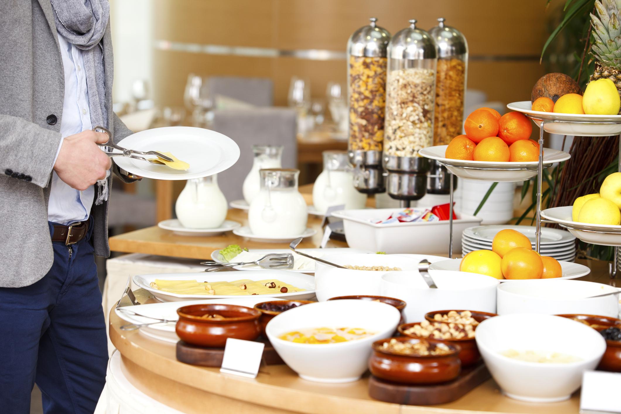 Das Frühstücksbuffet im Hotel