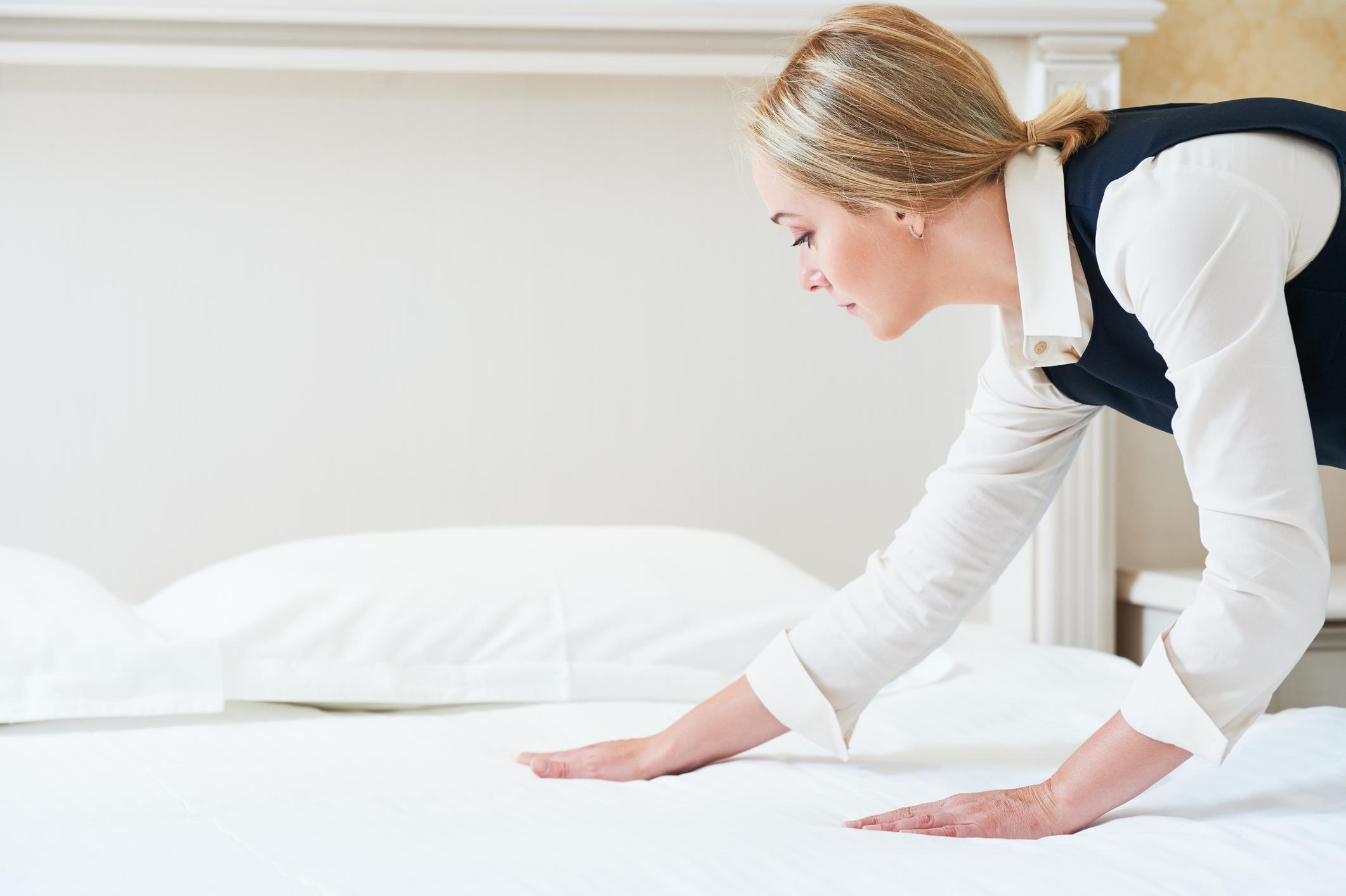 Sauberkeit der Hotelbetten